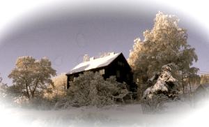 huset vinter